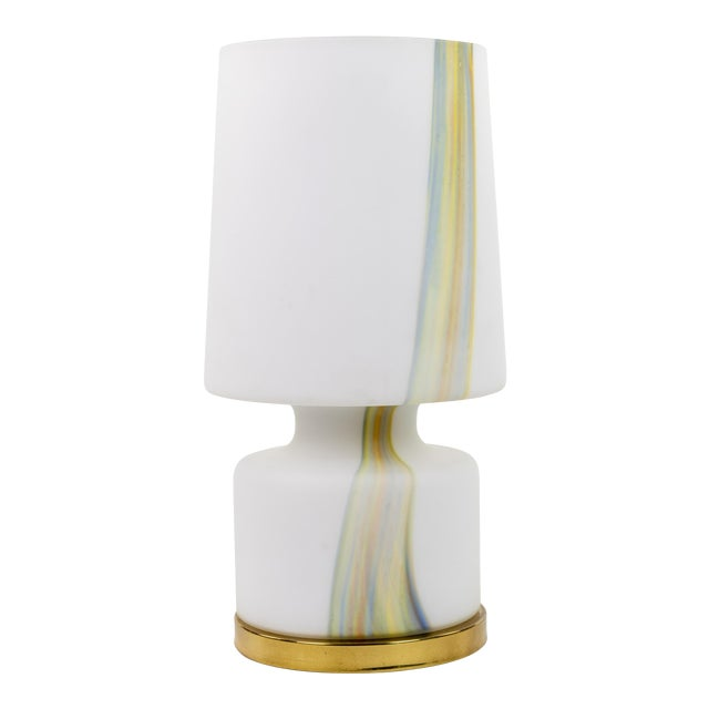 Vintage Murano Hand Blown Laurel Lamp Co. Glass Table Lamp For Sale