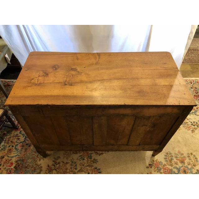 Wood Louis XVI Period 3 Drawer Mahogany Chest For Sale - Image 7 of 10