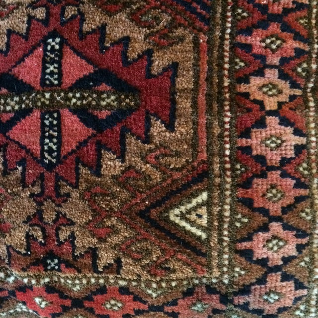 Vintage Rug Remnant Floor Pillow - Image 9 of 10
