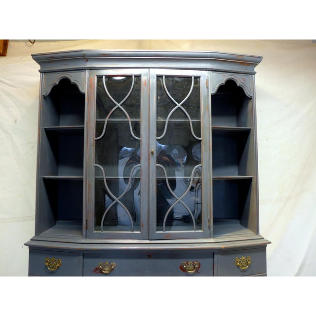 Vintage Mahogany Gray Cupboard For Sale - Image 5 of 11