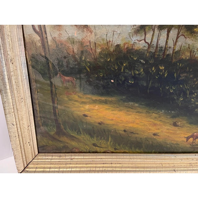 Early 19th Century Antique Oil Painting of Landscape For Sale - Image 5 of 13