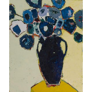 """Bill Tansey """"Blue Vase With Handles"""" Oil Painting For Sale"""