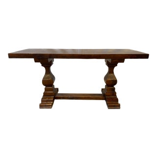 Italian Oak Monestery Dining Table - Early 20th C For Sale