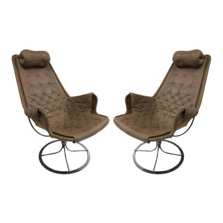 Pair of Bruno Mathsson Jetson Lounge Chairs for DUX For Sale