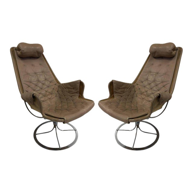Pair of Bruno Mathsson Jetson Lounge Chairs for DUX - Image 1 of 6