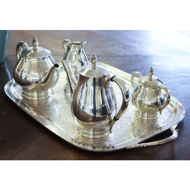 Traditional Sterling International Tea Set (6pc.) Royal Danish Pattern For Sale - Image 3 of 7