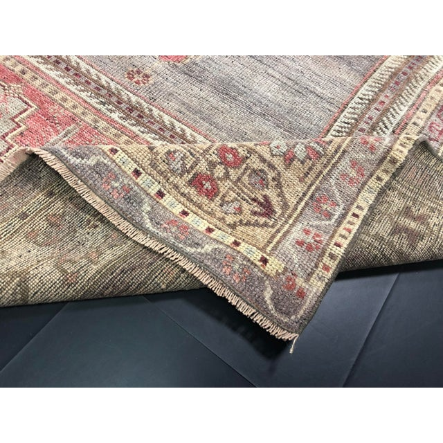 Faded Turkish Oushak Traditional Rug-4'6'x9'6' For Sale - Image 10 of 11