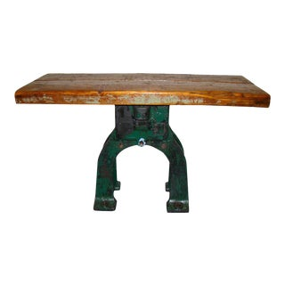 Industrial Repurposed Base Table