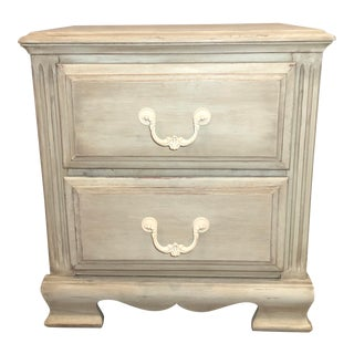 Antique Shabby Chic Green Bedside Table For Sale