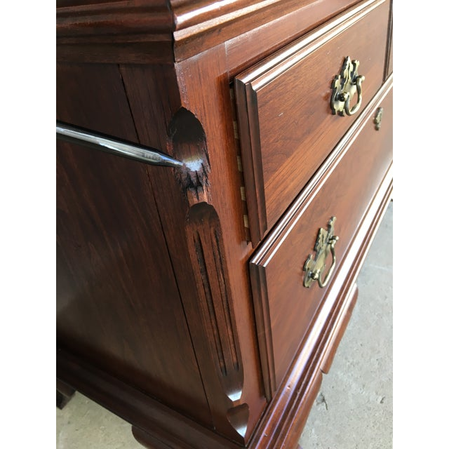 Pennsylvania House Cherry Chippendale Style Armoire For Sale - Image 10 of 13