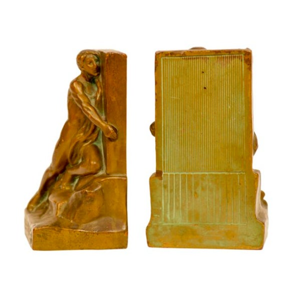 The Builder Bronze Bookends - Pair - Image 2 of 5
