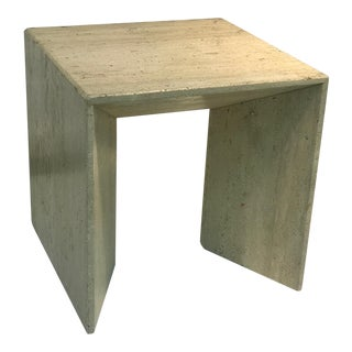 Fabulous Italian Travertine Accent Table or Side Table For Sale