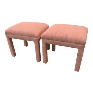 Pink Hollywood Regency Stools