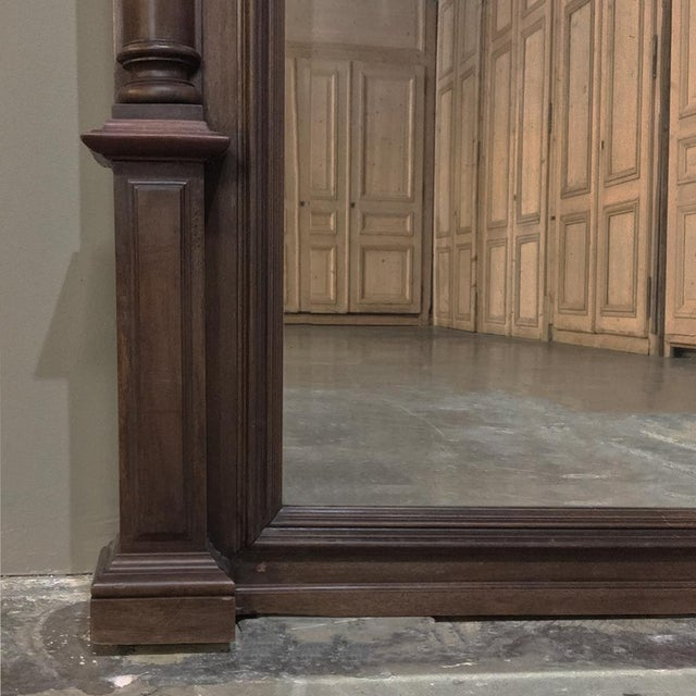 Trumeau, 19th Century French Henri II in Walnut For Sale - Image 9 of 12