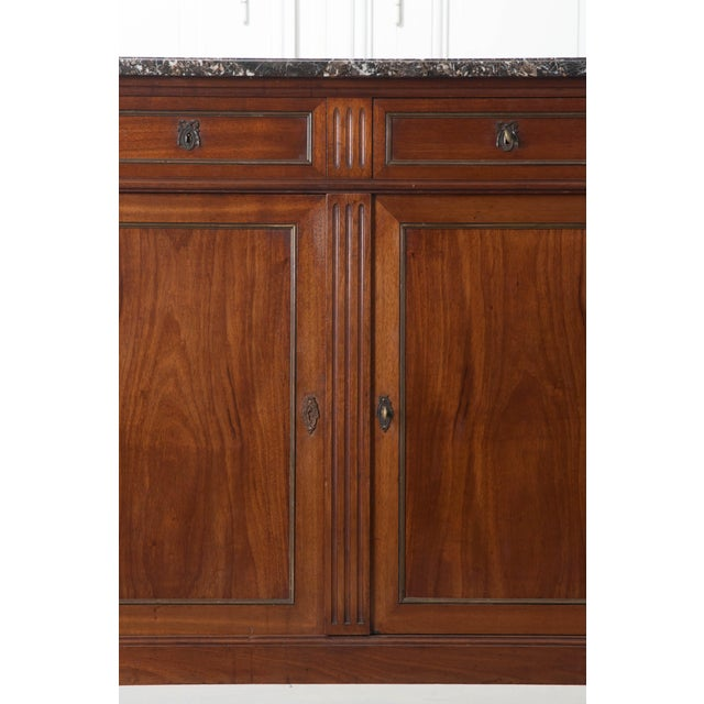 French Late 19th Century Louis XVI Style Mahogany Enfilade with Marble Top - Image 5 of 10