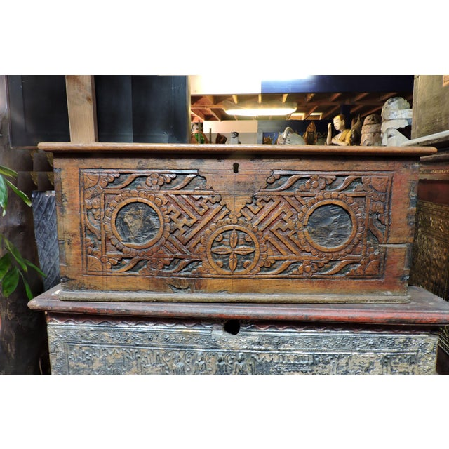 Anonymous Indonesian Wooden Box For Sale - Image 4 of 5