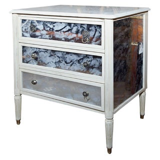Marble Top French Directoire Style Commode For Sale