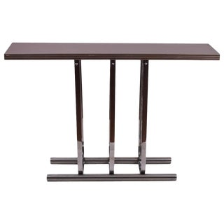 Rohde for Troy Sunshade Chrome Console Table For Sale