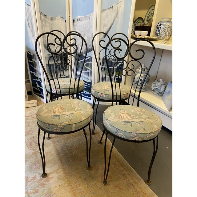 Traditional 1950s Vintage Garden Chairs - Set of 4 For Sale - Image 3 of 7