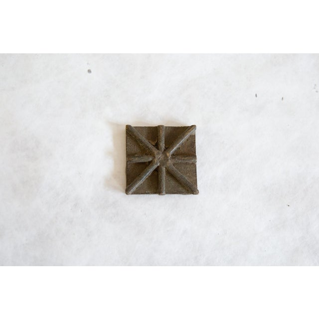 :: Vintage handmade African square bronze coin. Circa mid 20th century and possibly older, this piece has such incredible...