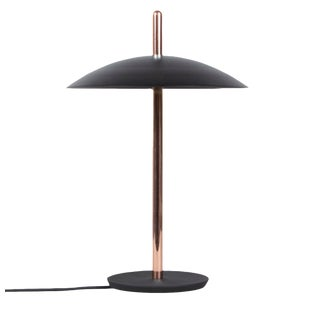 Modern Black X Copper Signal Table Lamp For Sale