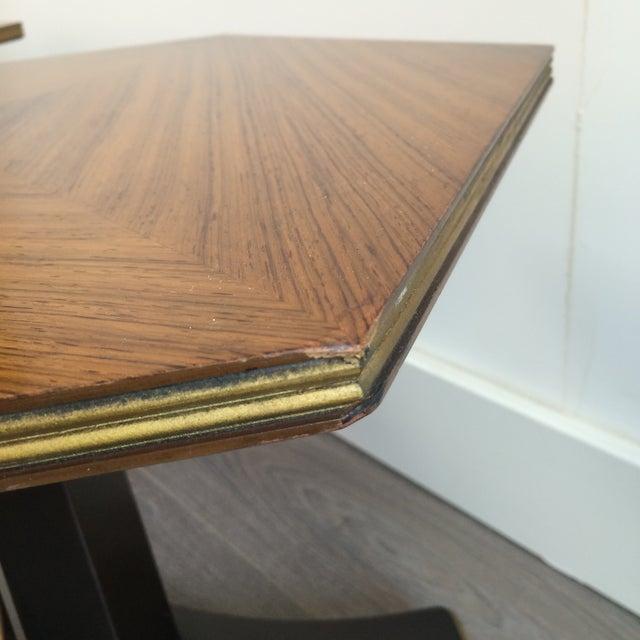 Henredon Hexagonal Walut Side Tables - A Pair - Image 10 of 11