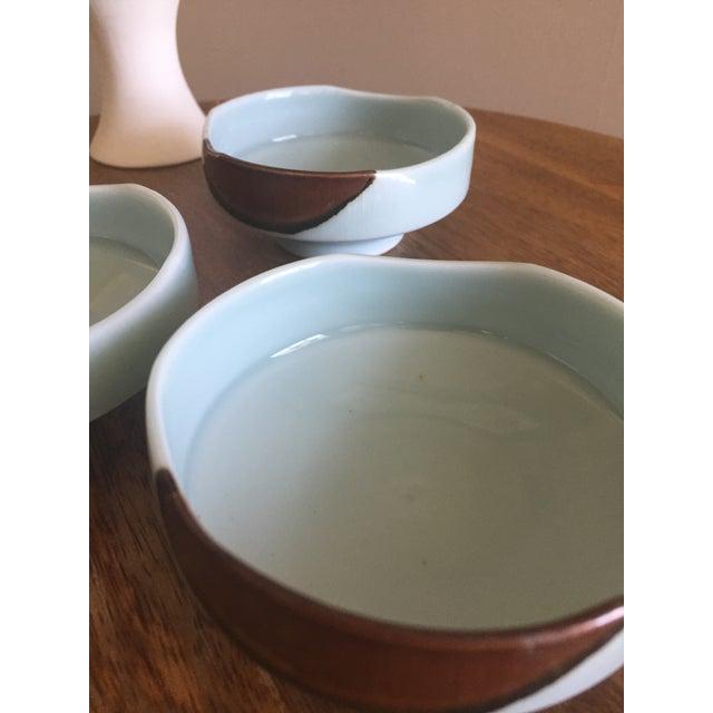 Handmade Ceramic Serving Bowls - Set of 3 For Sale - Image 5 of 6