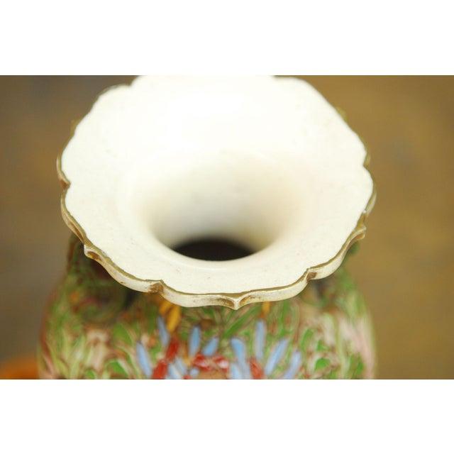 Vintage 1970 Japanese Satsuma Vase For Sale - Image 4 of 5