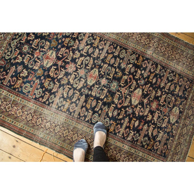 "Cottage Antique Shirvan Rug - 4'3"" x 6'7"" For Sale - Image 3 of 11"