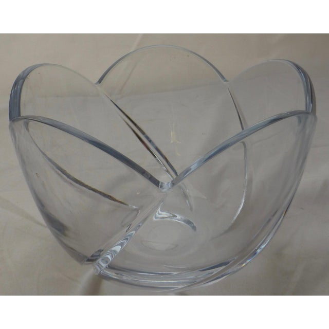 Transparent Mid-Century Lead Crystal Organic Glass Bowl For Sale - Image 8 of 10