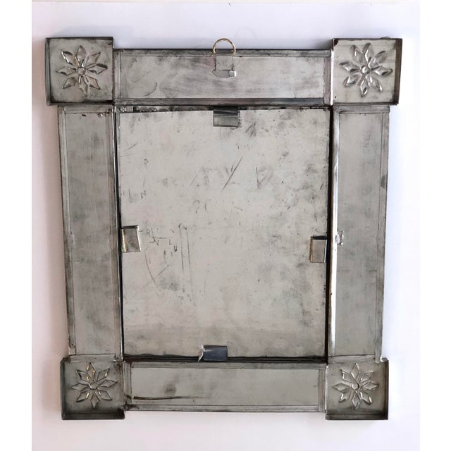 Blue Vintage Mexican Blue and White Handmade Tile Mirror For Sale - Image 8 of 12