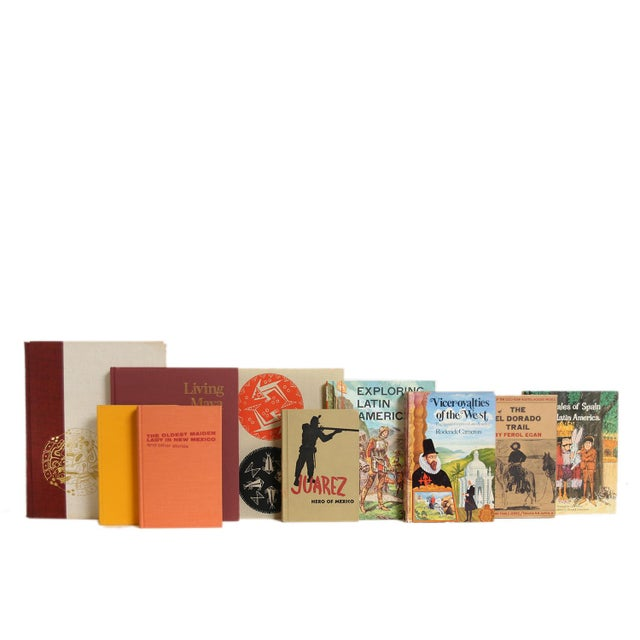 Latin American History & Culture Book Set, S/15. Features a blend of fifteen authentic midcentury books published...