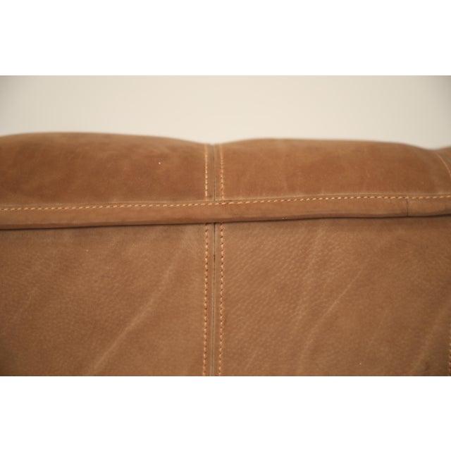 Tan De Sede Aged Buffalo Leather Ds-44 Adjustable Loveseat Sofa, 1970s For Sale - Image 8 of 13