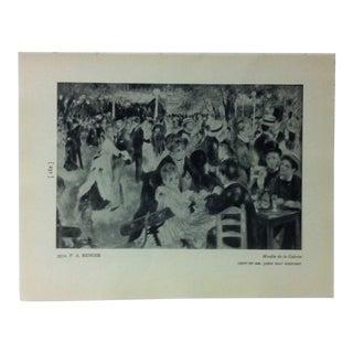 """Circa 1940 """"Moulin De La Galette"""" by p.a. Renoir Masterpiece of Art Print For Sale"""