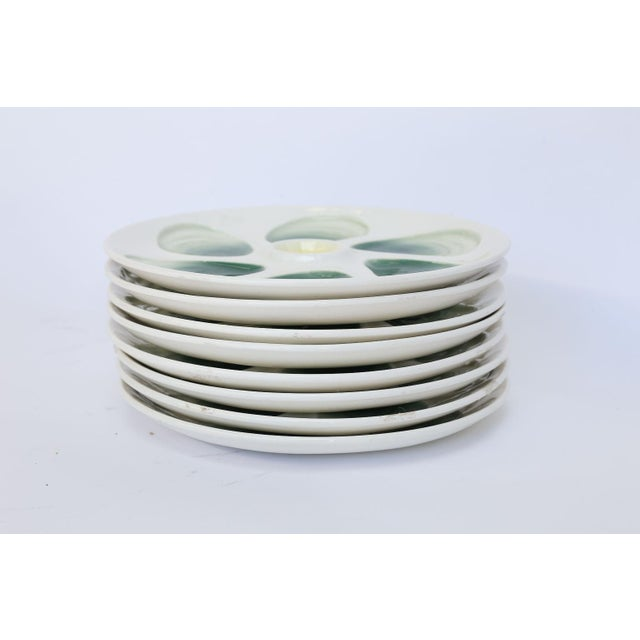 Set of Eight French Oyster Plates For Sale - Image 4 of 8