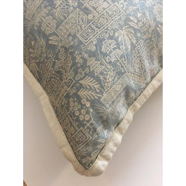 Ralph Lauren Blue & White Pagoda Throw Pillow - Image 4 of 6