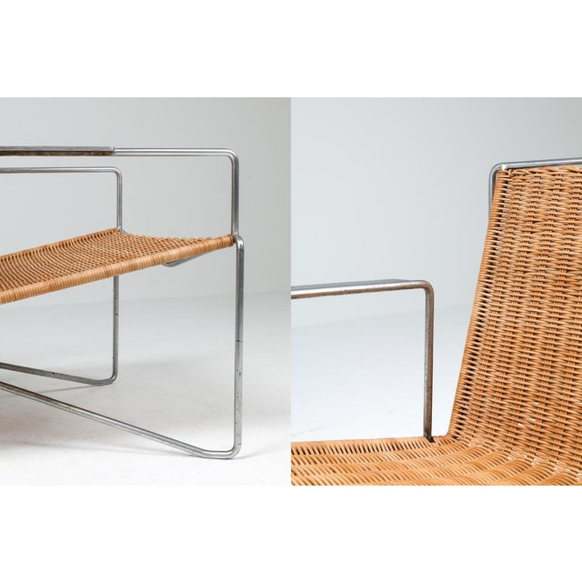 Rattan & Steel Armchairs by Gelderland - 1964 For Sale - Image 10 of 13