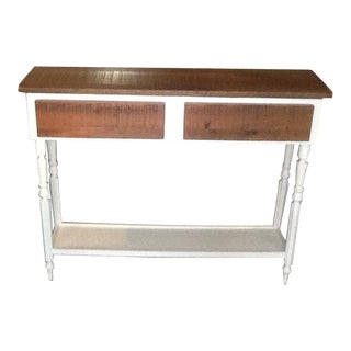 White Painted Upcycled Console Table