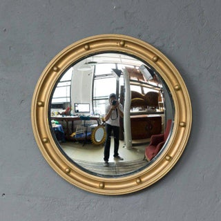 Late 19th Century Small Convex Mirror in Painted Wood Frame Preview