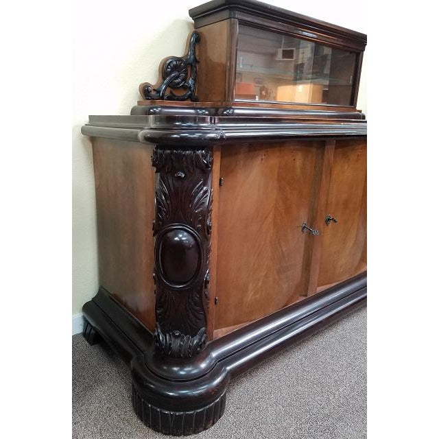 Item # TK1 Late C19th Custom Made Belgian Console Walnut & Mahogany Top is removable. See images without top display*...