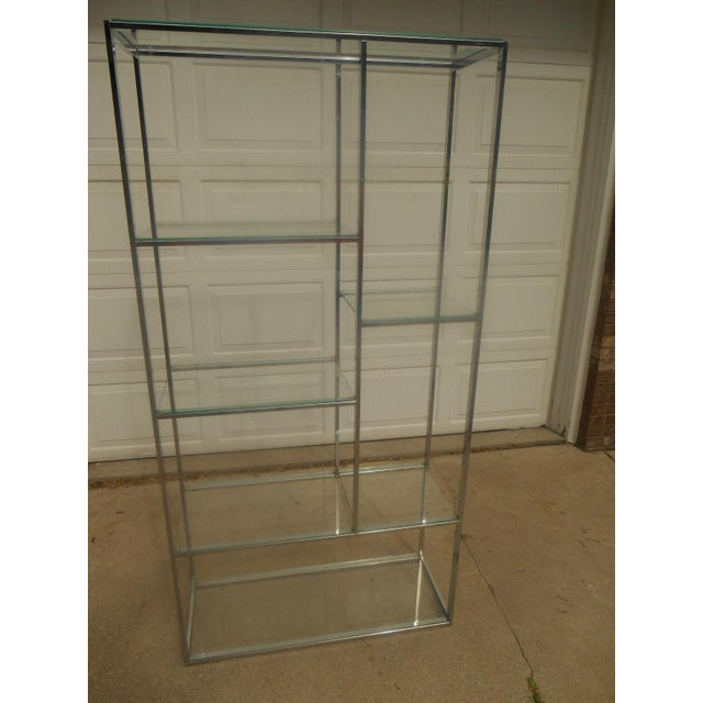 Mid-Century Milo Baughman Chrome & Glass Etagere - Image 7 of 7