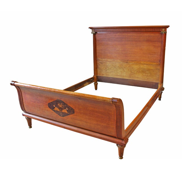 "Antique Deco ""Empire"" Style Sleigh Bed - Image 1 of 5"