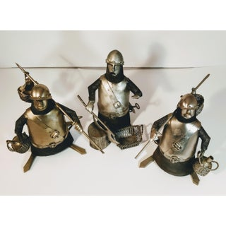 Vintage Metal Knight Figurines - Set of 3 Preview