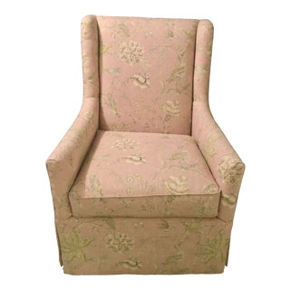 Century Furniture Jean Wing Chair in Thibaut For Sale