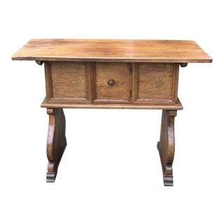 Antique Rustic Dutch Console Table For Sale