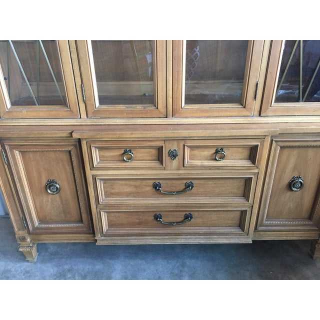 French Country 1960s French Provincial Thomasville China Cabinet For Sale - Image 3 of 8