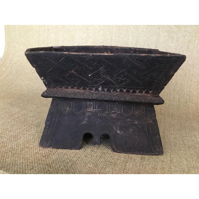 Early 20th Century Traditional Decorated Wood Box For Sale - Image 4 of 11