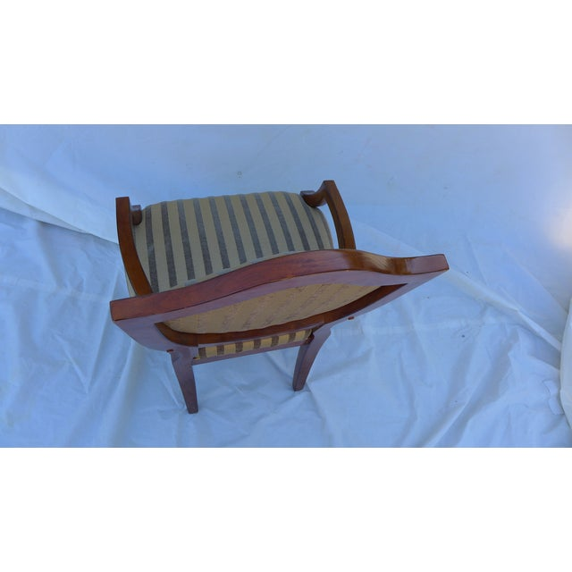 Shield-Back Striped Armchair For Sale In New York - Image 6 of 7