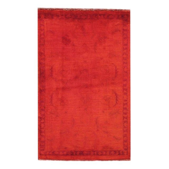 """Vintage Overdyed Rug, 2'6"""" x 4'2"""" For Sale"""