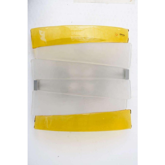 Mazzega Murano Glass Ceiling Lamp - Image 2 of 9